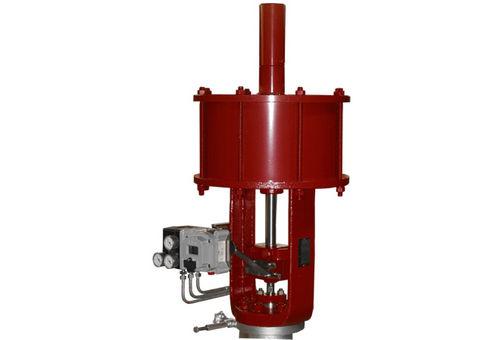 Linear valve actuator / pneumatic / spring-return / piston GE Energy, Valves - Control & Safety