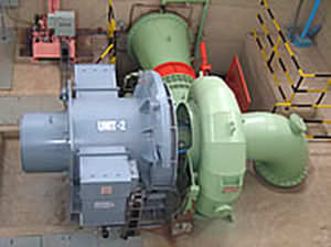 Hydraulic turbine / Francis / spiral-casing / mechanical drive Kirloskar Brothers Ltd.