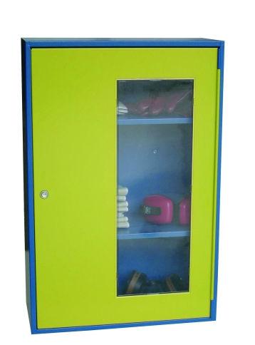 storage cabinet / free-standing / single-door / steel