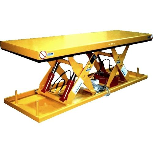 tandem scissor lift table / hydraulic / stationary