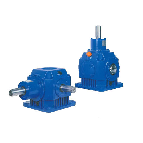 right-angle gear reducer / compact / shaft
