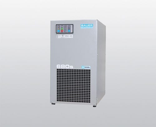 refrigerated compressed air dryer / air-cooled / high-temperature