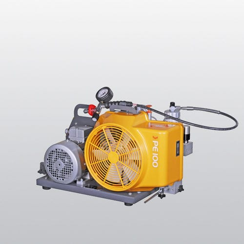 breathing air compressor / mobile / gasoline engine / AC