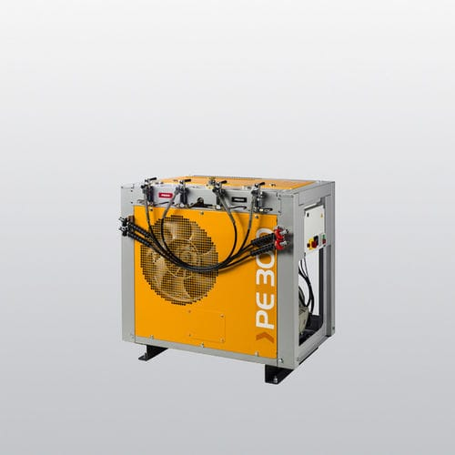 breathing air compressor / stationary / electrically-powered / piston