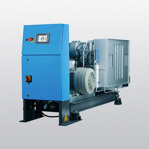 air-cooled compressor / helium / stationary / electrically-powered