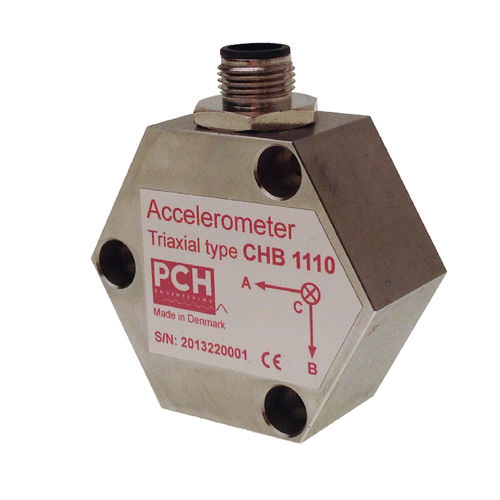 Triaxial accelerometer / MEMS / vibrating / low-frequency CHB 1110 / CHB 1126 PCH Engineering A/S