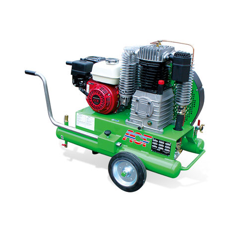 air compressor / mobile / gasoline engine / lubricated