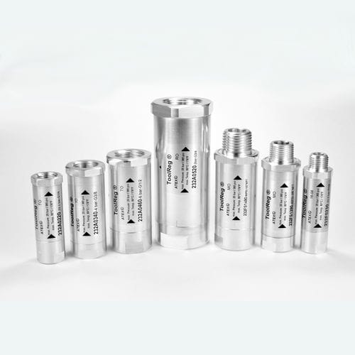 compressed air pressure regulator / single-stage / piston / pneumatic