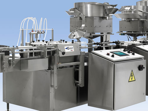 Rotary filler and capper / automatic / continuous-motion / for liquids CR200/400 Cozzoli Machine Company