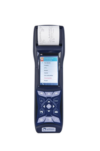 exhaust gas analyzer / gas / temperature / portable