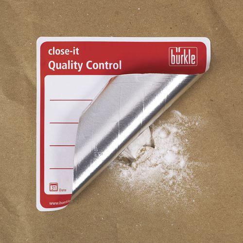 Waterproof label / paper / aluminum close-it Bürkle