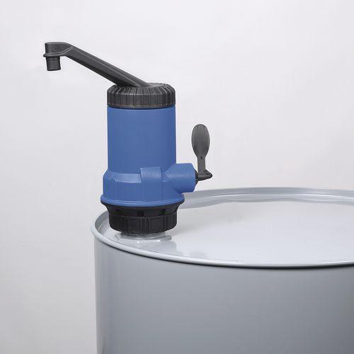 Acid pump / lever / self-priming / plastic PP Bürkle