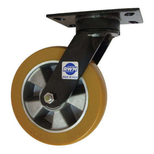 swivel caster / base plate / for medium loads