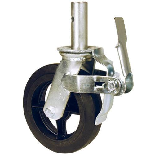 swivel caster / rod / with brake / light-duty