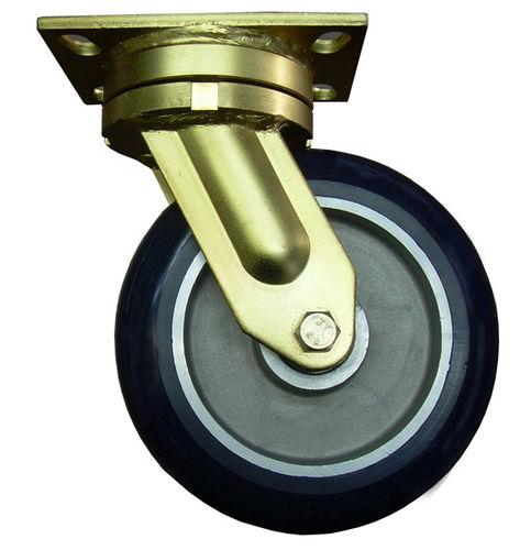 swivel caster / base plate / very heavy-duty / steel