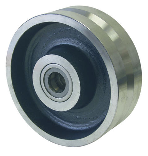 monobloc wheel / cast iron / for furnaces and ovens / grooved