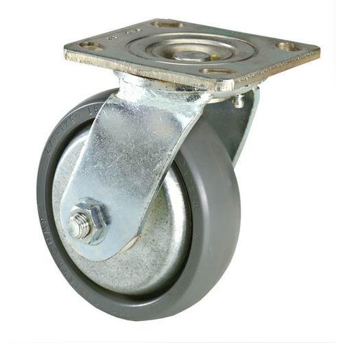 swivel caster / base plate / polypropylene / zinc-coated steel
