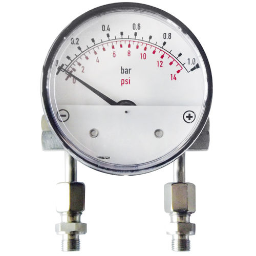 analog pressure gauge / differential / for air / precision