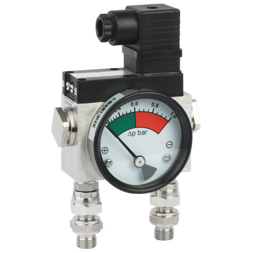 analog pressure gauge / differential / process / for air