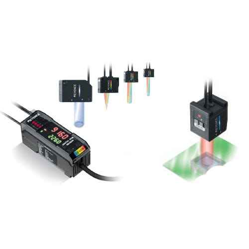 RGB color sensor / fiber optic / digital / rectangular