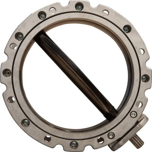butterfly valve / manual / control / double-flange