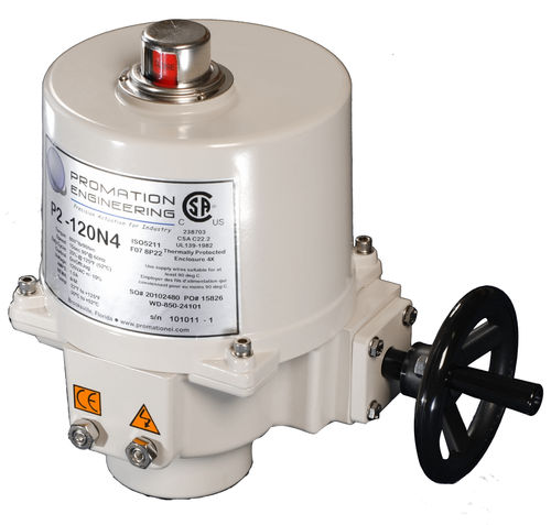 Rotary valve actuator / electric / for control of shut-off 800 - 1300 lbs (90 - 147 Nm), NEMA 4X, 90° | P2, P3 series ProMation Engineering Inc.