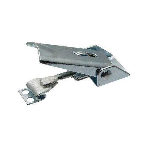 stainless steel draw latch / zinc-coated steel / hook / with constant fastening
