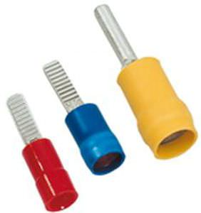 pin solderless terminal / tubular / insulated / copper