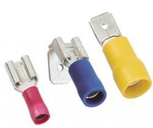 female solderless terminal / tubular / insulated / copper