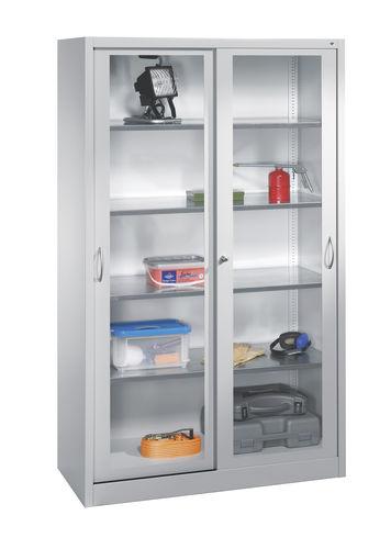 Cabinet with glass doors / floor-standing / steel / hazardous goods C+P Moebelsysteme