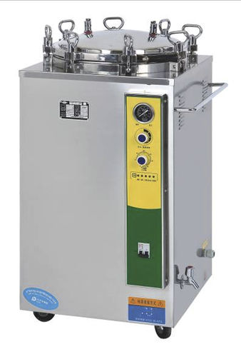 laboratory sterilizer / steam / vertical