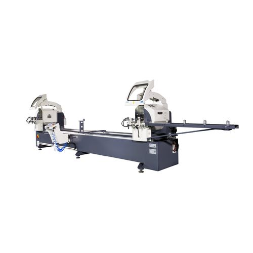metal double-head miter saw / for plastics / for wood