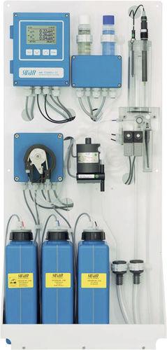 chlorine analyzer / temperature / for integration / online