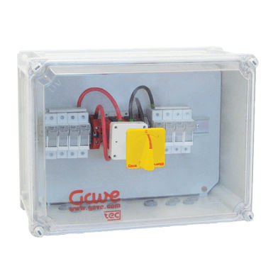 equipped electrical enclosure / plastic / for photovoltaic applications
