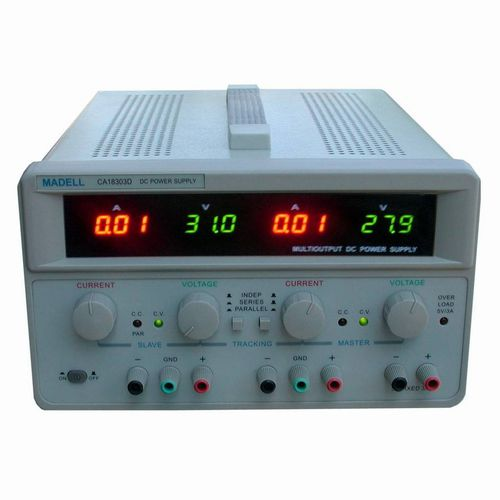 AC/DC power supply / triple-output / adjustable / laboratory