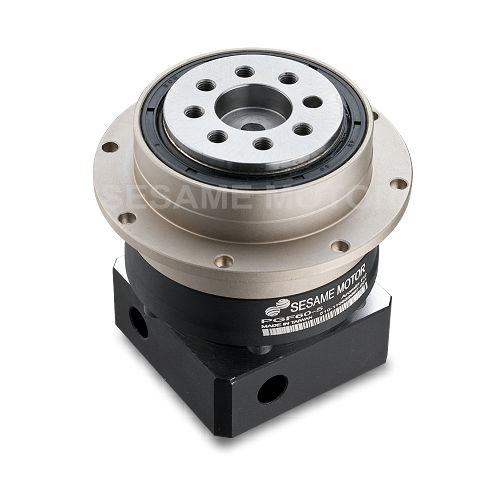 Planetary gear reducer / coaxial / high-precision / with flange PGF Series Sesame Motor Corp.