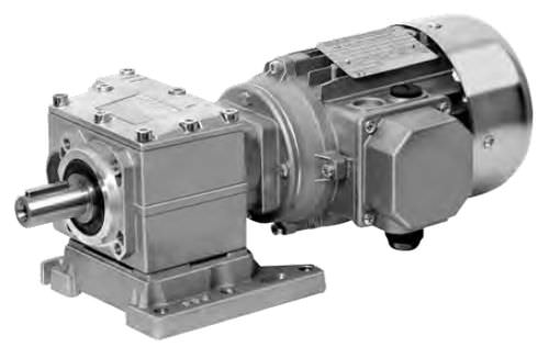 three-phase electric gearmotor / coaxial / helical