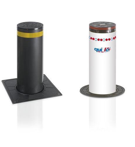 automatic retractable bollard / hydraulic
