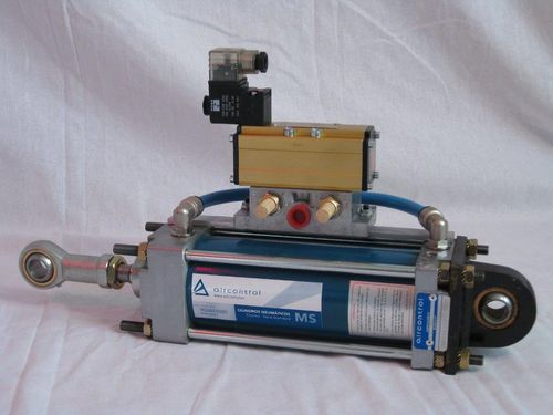 pneumatic cylinder / with integrated solenoid valve / aluminum
