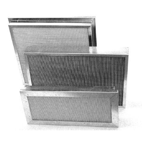 polypropylene filter / air / panel / pleated