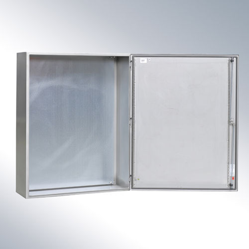 wall-mount enclosure / rectangular / stainless steel
