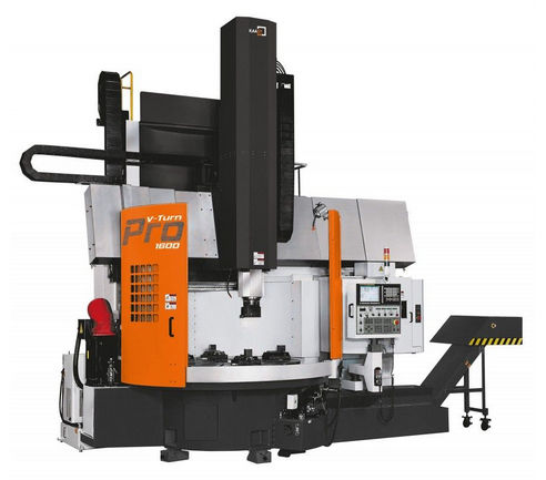 CNC lathe / vertical / 2-axis / high-speed