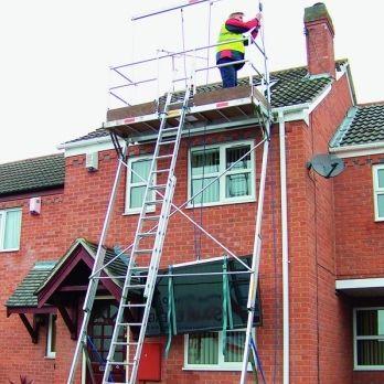 Fixed scaffolding tower / modular / facade Solar Platform KEE SAFETY