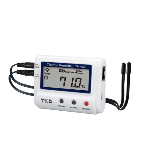 temperature data-logger / Bluetooth / LAN WLAN / with screen