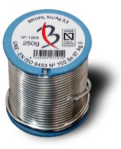 Soldering wire +221 °C ... +224 °C | BROFIL Sn/Ag3,5 Broquetas