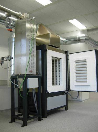 preheating furnace / sintering / chamber / gas