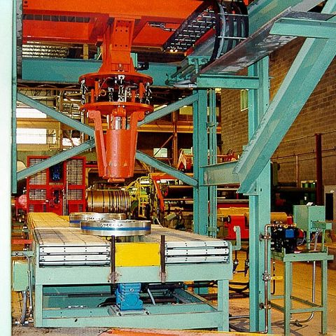 Wrap-around strapping machine / automatic / for coils 90 p/h  Fagor Arrasate S.Coop.