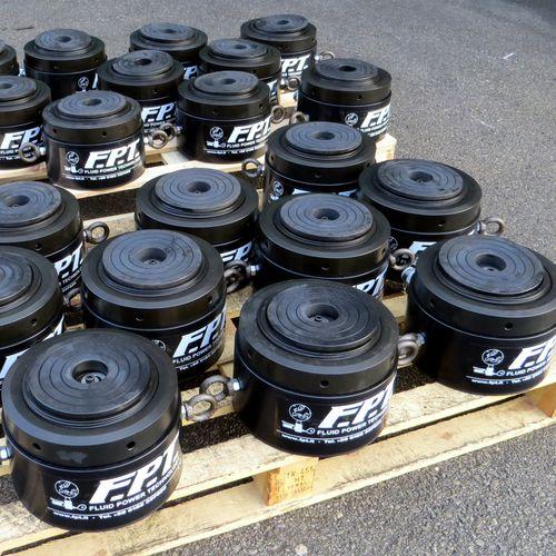 aluminum cylinder / hydraulic / single-acting with return spring / flat