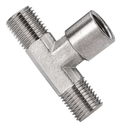 threaded fitting / T / hydraulic / pneumatic