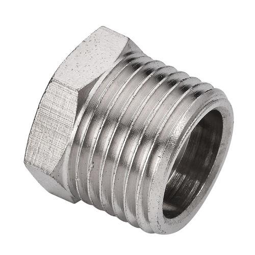 plug with hexagonal head / male / threaded / brass